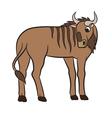 cute antelope gnu vector image