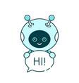 cute smiling robotchat bot say vector image vector image