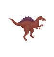 dark red spinosaurus standing isolated on white vector image vector image