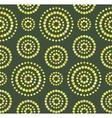 Dots circles seamless pattern on green vector image vector image