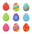 easter egg with colorful bright ornamental design vector image vector image