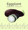 eggplant image vector image vector image