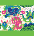 fairy tale characters seamless pattern vector image