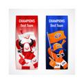 fan sport banners vertical set vector image vector image