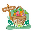 farm fresh cartoons vector image