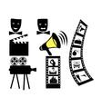 film movie camera mask vector image vector image