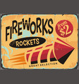 fireworks shop sign vector image