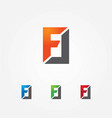 fl letters logo template vector image vector image