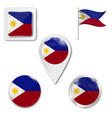 flag philippines vector image vector image