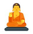 flat style of buddha vector image