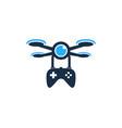 game drone logo icon design vector image