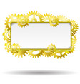 gear realistic golden frame vector image vector image