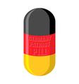 German patriotic pill Germany Capsule flag vector image vector image