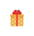 gift box icon present in flat design vector image