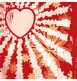 Grunge Valentine vector image vector image