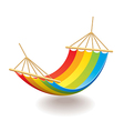 hammock isolated vector image vector image