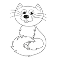 Homebody cat smiling and sitting coloring book vector image