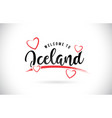 iceland welcome to word text with handwritten vector image