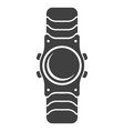 icon wristwatch on white vector image