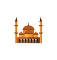 isolated architecture flat icon mohammedanism vector image vector image