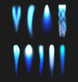 jet flames blue blasting fire aviation fueling vector image