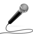karaoke microphone vector image vector image