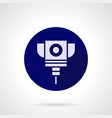 laser cutting service blue round icon vector image vector image