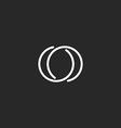 Letter O logo modern monogram symbol black and vector image vector image