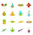 Medical marijuana icons set cartoon style vector image vector image