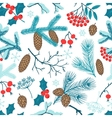 merry christmas seamless pattern with winter vector image vector image