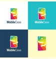 mobile case logo and icon vector image