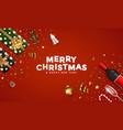 modern merry christmas greeting card 2 vector image vector image