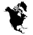 north america island map silhouette vector image