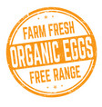 organic eggs sign or stamp vector image vector image