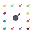 pan flat icons set vector image