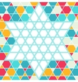 Patterned six-rays star background vector image