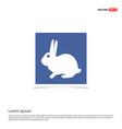 rabbit icon - blue photo frame vector image