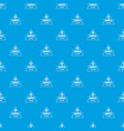robot future pattern seamless blue vector image vector image