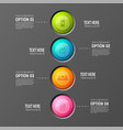 round buttons teamwork background vector image vector image