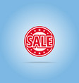 sale label red color isolated on white vector image vector image