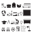 School Supplies Icons Set Monochrome vector image vector image