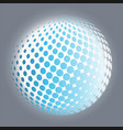 set abstract halftone 3d spheres 11 vector image vector image