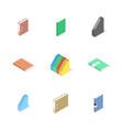 set of cardboard file folders vector image vector image