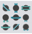 Set of retro badges and labels with ribbons vector image vector image