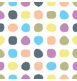 simple seamless pattern with round shapes vector image