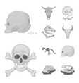 skeleton and character icon vector image