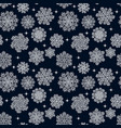 snowflakes seamless pattern holiday background vector image vector image