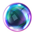 soap rainbow bubbles with reflections vector image vector image