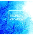 summer time tropical palm vector image vector image