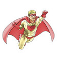 superhero comic book style vector image
